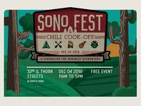 SoNo Fest Patch Poster