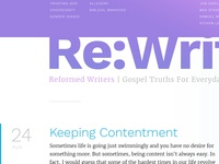 Reformed Writers website sneak peek