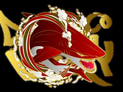 lava shark brand esports logo big wave tsunami gaming sukajan icon app ui ux vector minimal illustration design branding logo shark animal