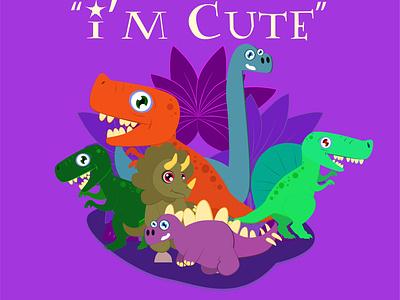 dinosaur family dribbble best shot storybook character design dinosaur animal branding vector minimal logo illustration icon design