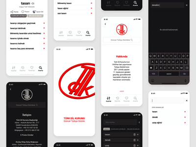The Dictionary Application for Turkish | Redesign for TDK ios redesign web mobile ux mobile ui ux design ui design user interface user experience ui ux ux ui dictionary mobile app mobile application app