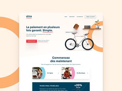 Alma brand new website payment eshop ecommerce webdesign pelostudio uidesign popular design dribbble tech ui landing brand identity website branding