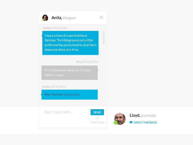Collaborative Chat chat discussion messages messenger social