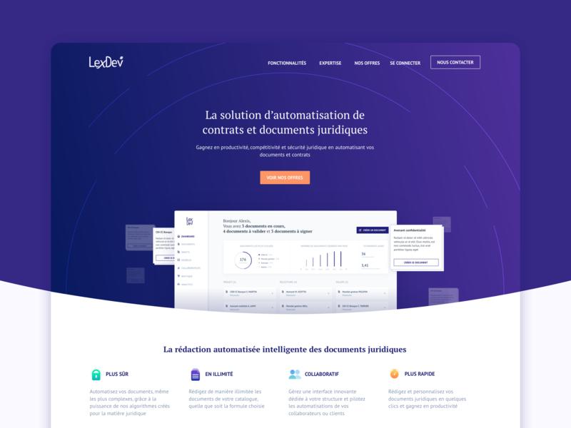Legal Tech Website landing ui  ux website design start-up documents legal