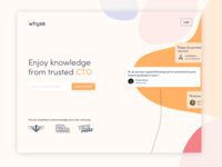 Whyse landing page