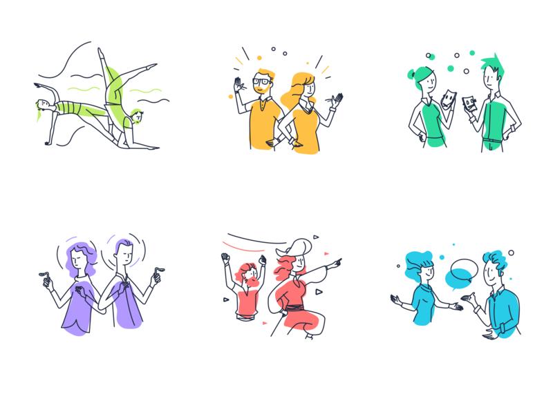 HR web app illustrations digitalart artwork product-illustration flat vector illustrator sketch product popular tech design ui art illustration