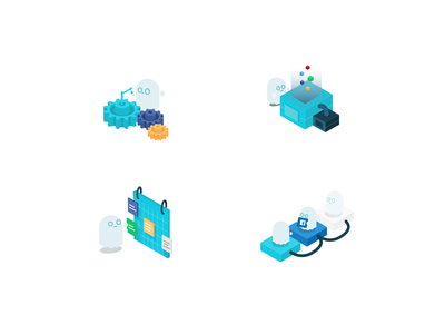Cute Ghost icons website startup illustrator product iconset icons digitalart vector illustration uidesign sketch popular dribbble tech ui