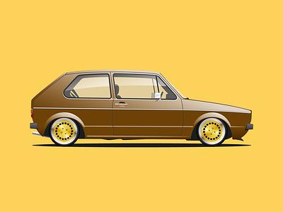 '76 VW Golf V2 design vector illustration graphicdesign