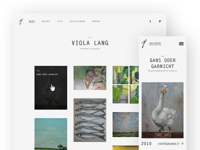 Fine Artist Portfolio Relaunch masonry webdesign branding ci relaunch fine art art responsive portfolio artist