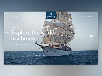 Seacloud Stage #01 luxury explore adventure travel stage branding website