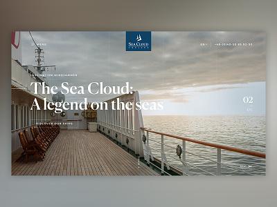 Seacloud Stage #01 modules stage luxury website explore travel adventure