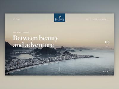 Seacloud Stage #03 clean design stage modules explore website branding travel adventure
