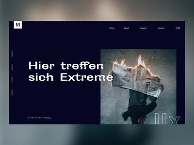 Melting Elements Website boxed square landingpage branding distort melting agency site website ui design ui