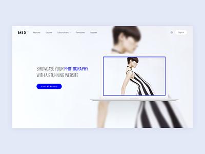 Mix Photographers online sites ui web design