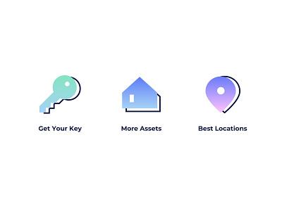Real Estate Icons icon web design