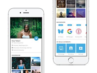 Visual Profile - Yuemey iOS App yuemey ios social profile job