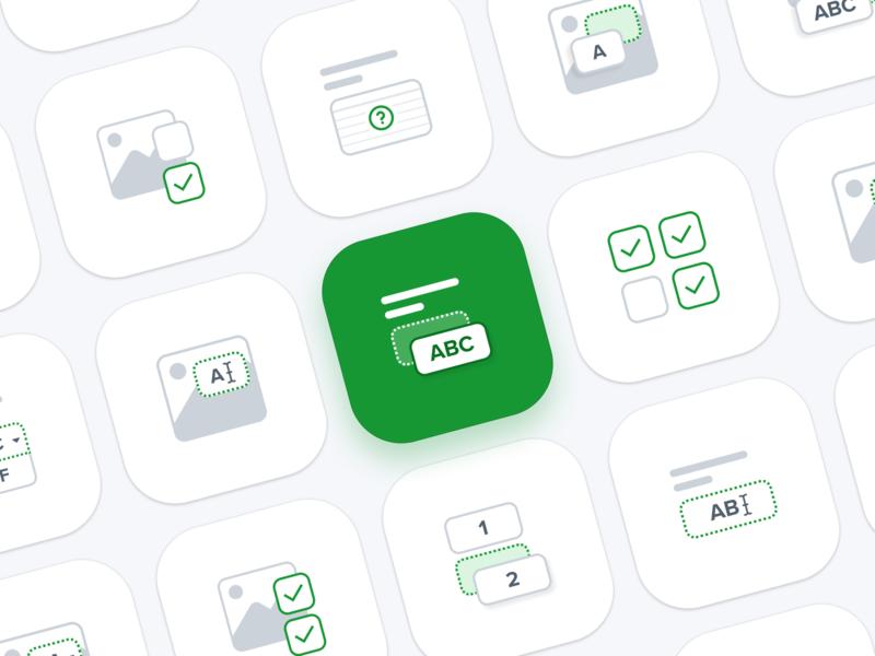 Pictograms – Learning Platform webdesign ui simple shapes geometric symbols iconography icon pictogram illustration website clean minimal