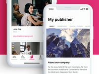 Publisher App – iOS App – About page