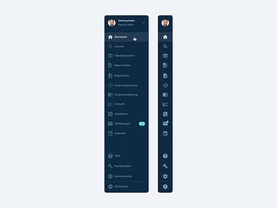 Publisher Software – Web App – Sidebar menu navigation menu sidebar menu web application user interface dashboard dark app web app navigation sidebar ux minimal clean interface design ui