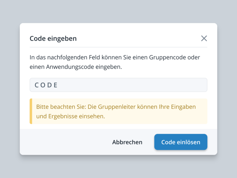 Unlock Modal - Learning Platform clean minimal alert unlock code modal user interface ui application web studio