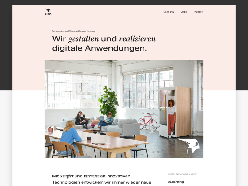 Homepage - Software Company pastel clean minimal agency company title header webdesign web design homepage website web studio