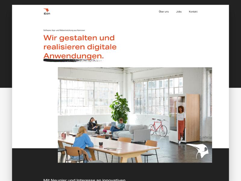Homepage - Software Company website web design webdesign web title brush minimal homepage header company clean agency studio