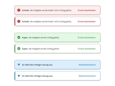 Hints - Learning Platform evaluation help success error user interface ui software minimal toast overlay notification feedback tip hint clean app