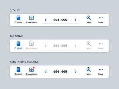 Tab/Navigation Bar bottom nav bottom bar tabs navigation user interface ui software pagination overlay minimal controls clean app