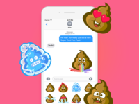 Super Cool: Poo Emoji Sticker Pack