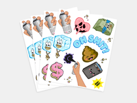 Supercool Sticker Sheets