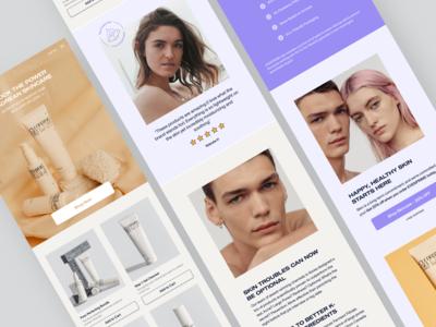 Skincare Mobile Website