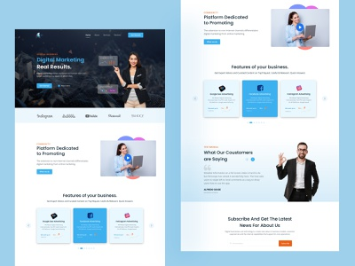 Digital Marketing Landing Page website