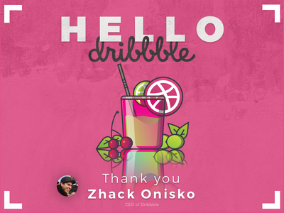Hello dribbble - Here My First Shot - So Glad to be Here first shot asithwijenayake asith zhackonisko firstshot hellodribbble dribbble