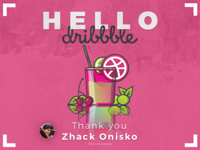 Hello dribbble - Here My First Shot - So Glad to be Here