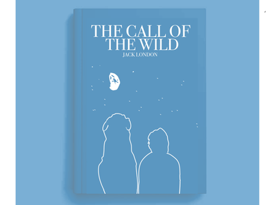 THE CALL OF THE WILD: book cover illustration design