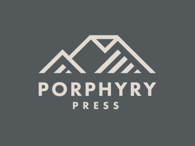 Porphyry Press Logo branding mountain logo press pages book mountain publisher