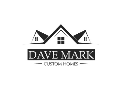 Dave Mark Logo Redesign roof window residential building home house rebrand construction logo