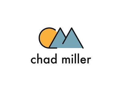 Chad Miller Personal Branding mountains moon flat logo brand