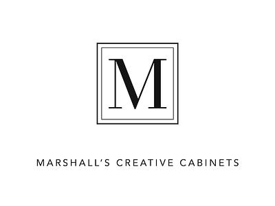 Minimalist Cabinetry Logo cabinet m typography watermark graphic logo