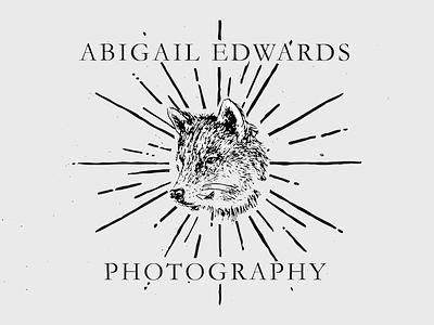 Photography Logo illustration ink paper branding vintage logo design wolf photography