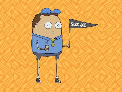 Good Job Doodle photoshop illustrator drawing doodle dad coffee pennant illustration encouraging