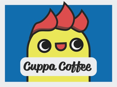 Cuppa Coffee - Coffee Shop Branding design primary bright fun coffee brand