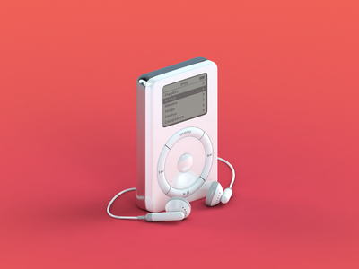 Original Ipod   3d Design illustrator