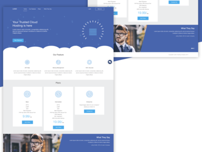 hosting Landing Page