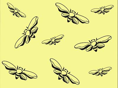 bees background animation illustrator icon art branding vector typography minimal graphic design design