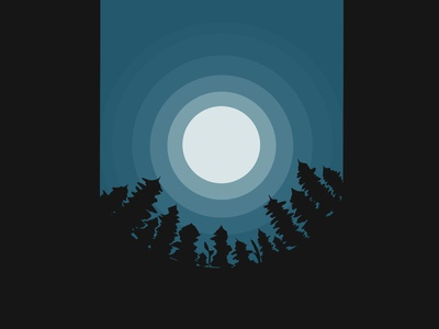 night sky flat web art illustrator illustration icon design app vector graphic design