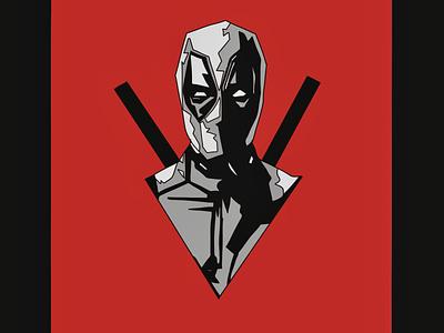 Deadpool art logo icon illustration vector design graphic design