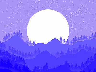 moonlight night app typography minimal icon design vector branding illustration art graphic design