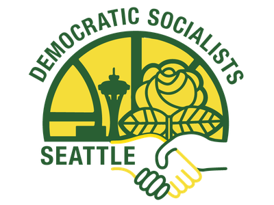Seattle Democratic Socialists — Sonics logo dsa sonics supersonics seattle logo retro basketball socialist socialism politics