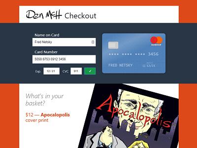 DailyUI #002: Credit Card Checkout 002 dailyui